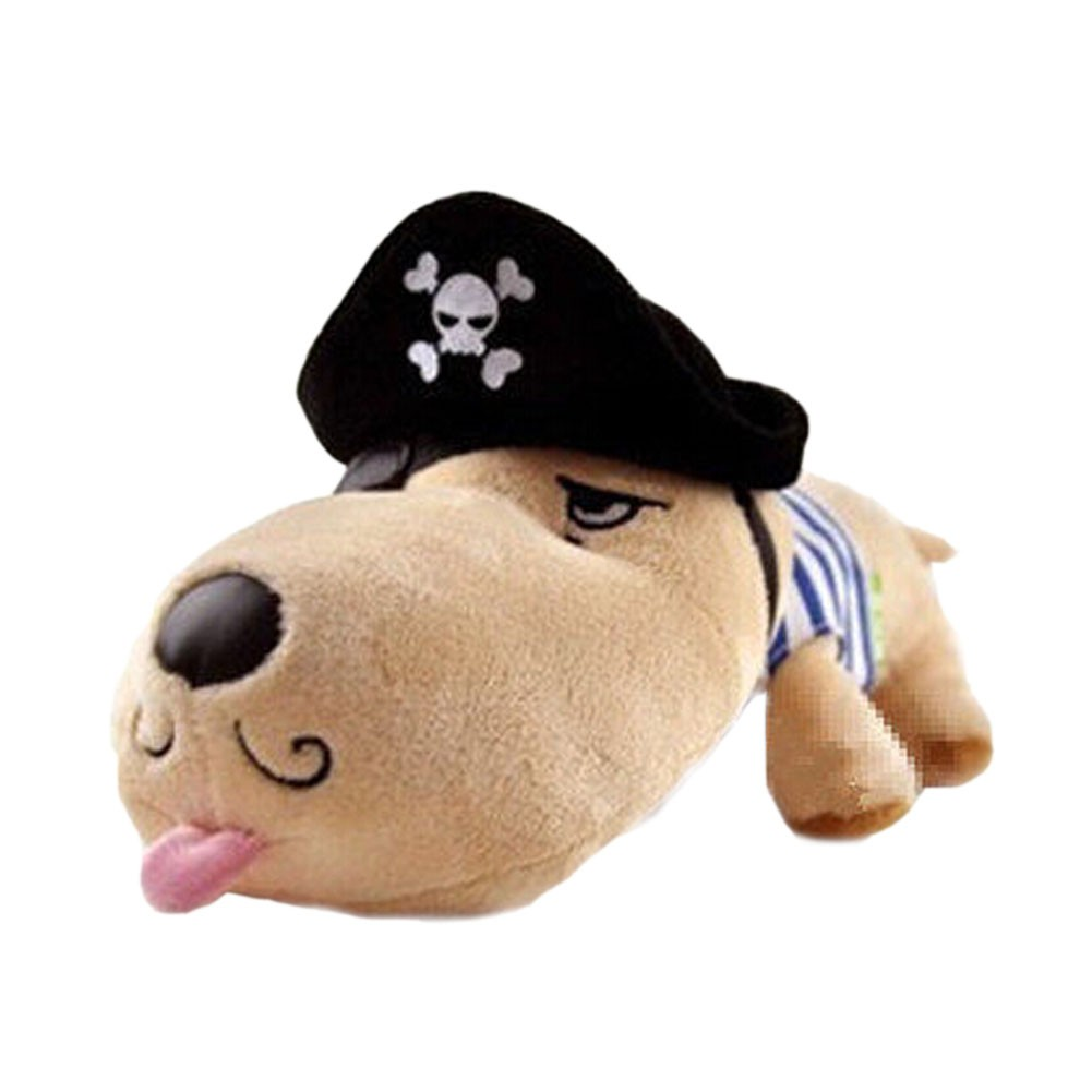 Cool Pirate Puppy Plush Doll Car Ornaments Bamboo Charcoal Auto Decor,13.7*5.1''