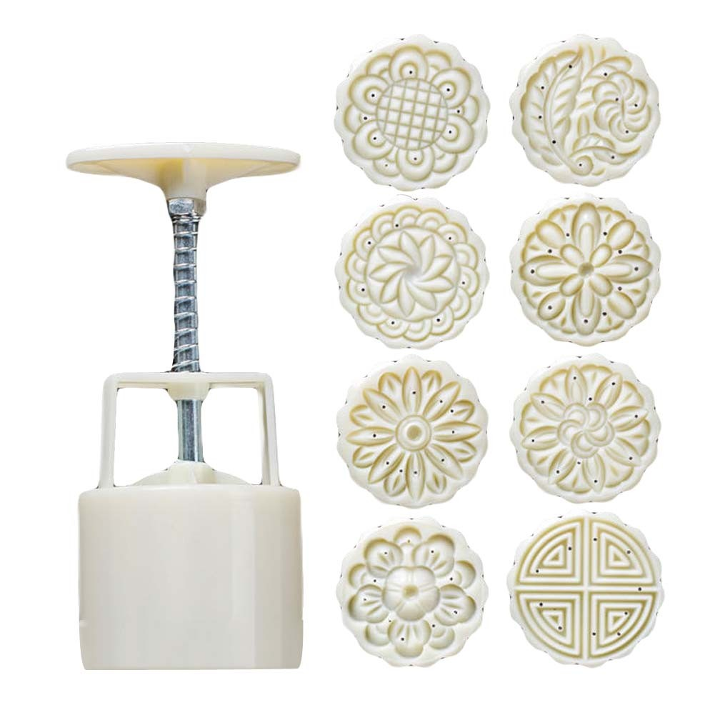 8 Stamps - Plastic Baking Molds - Moon Cake Mold Small Cake Mold 75G