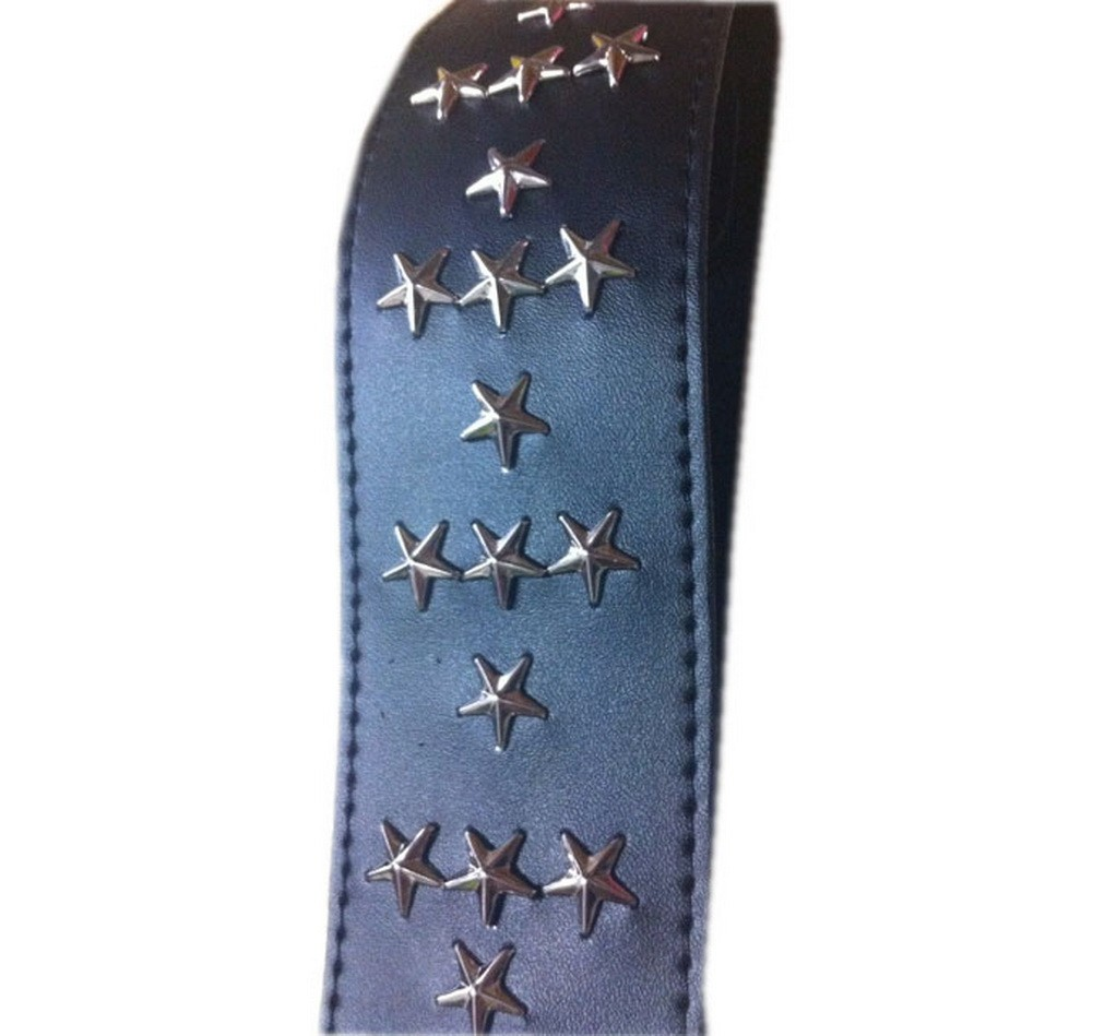 Custom Leather Guitar Strap Star Rivet Bass Guitar Strap