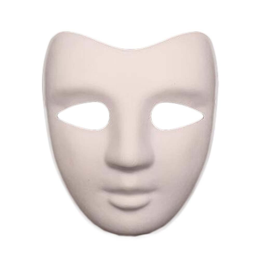 10 Pcs White Mask Costume Mask Painting DIY Paper Mask Blank Mask Full Face Mask