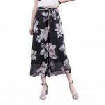 Printing Design Loose Fitting Pants Wide Leg Trousers Slacks for Women, #06