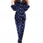 Casual Pajama Set Warm Sleepwear Home Apparel Flannel Pajamas X-large-A7