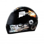 "Cool Bullets Motorcycle Helmet Street Bike Full Face Helmet (XL,22 4/5""-23 3/5"")"