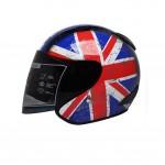 """Union Jack Motorcycle Helmet Street Bike Open Face Helmet (L,22""""-23 1/5"""")"""