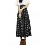 Cute Polka Dot Maxi Skirt for Women High Waisted Long Skirt Medium
