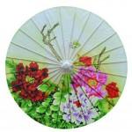 Non Rainproof Oiled Paper Umbrella 33-Inches Handmade Painted Paper Umbrella
