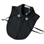 Chiffon Fake Collar Rhinestone False Collar, New BLACK