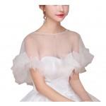 Women's Wedding Dresses Bridal Shawls Lace Scarf Capes, B