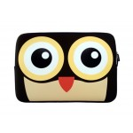 Unique 13.3 Inch Laptop Sleeves Lovely Cartoon Laptop Sleeve COFFEE Owl
