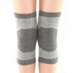 General Knee Brace Sleeve for Sports, Arthritis, Joint Pain, Gray Black(Large)