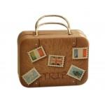 Rectangle Cute Pill Boxes Candy Metal Case Storage Box, Khaki