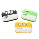 Korea Style Leather Cute Cartoon Contact Lenses Cases, 8.5x5.8cm Random Color