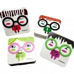Korea Style Cute Figure Lenses Holder Square Shape Contact Lenses Cases