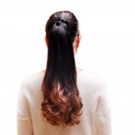 Long Highlight Ponytail Extension for Women, Brown