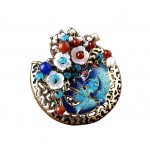 Classical Fashion Brooch Pin Shell Flowers Clothing Accessories