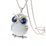 Gorgeous Owl Fashion Opal Jewelry Necklaces Pendant Necklace for Women