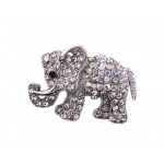 2 Pieces Of Creative Brooch Diamond Elephant Brooch Clothes Accessories