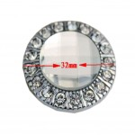PANDA SUPERSTORE Set of 3 Fashion[Silver Crystal]Circle Drawer Handle/Pulls Cabinet Knobs(1.25'')