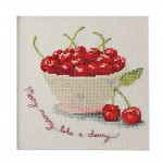 PANDA SUPERSTORE [Delicious Cherry]DIY Cross-Stitch 11CT Counted Embroidery Kits Art Craft(7*7'')