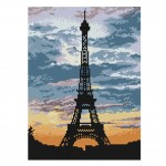PANDA SUPERSTORE [Eiffel Tower] DIY Cross-Stitch 11 CT Embroidery Kits Room Decorations(9*13.1'')
