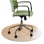 PVC Office Chair Mat Carpet for Hard Flooring Protection [Diameter90cm]