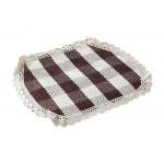 Lattice Summer Cushion/Comfortable Office/Home/School Cushions, coffee