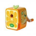 Cute Cartoon Fruits Office Classroom Hand Rotating Pencil Sharpener, Tangerine