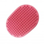Pet Cleaning Supplies--Circular Rubber Grooming Brush,Cat/Dog Bathing Brush,PINK