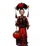 Handmade Dolls Chinese Characteristics Gift Silk Classical Dolls Souvenir