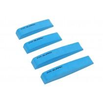 Car Foam Bumper Stickers/Anti-rub Strips/Crash Bar/Guard Strips 4PCS(Blue)