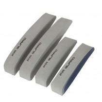 Car Foam Bumper Stickers/Anti-rub Strips/Crash Bar/Guard Strips 4PCS(Gray)