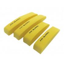 Car Foam Bumper Stickers/Anti-rub Strips/Crash Bar/Guard Strips 4PCS(Yellow)