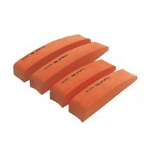 Car Foam Bumper Stickers/Anti-rub Strips/Crash Bar/Guard Strips 4PCS(Orange)