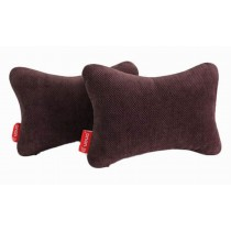 Auto Supplies A Pair of Car Headrest Soft Neck Pillow, Brown