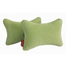 Auto Supplies A Pair of Car Seat Headrest Soft Neck Pillow, Light Green
