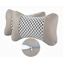 Auto Supplies A Pair of Seat Headrest Neck/Head Support Pillow, Gray