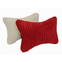 Auto Supplies A Pair of Seat Headrest Soft Neck/Head Support Pillow, Red