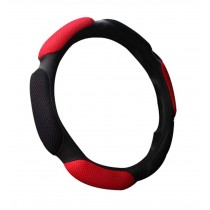All Seasons Car Steering Wheel Cover Black Red