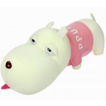 Car Decors Cute Dog Plush Dolls Bamboo Charcoal Auto Charms, Pink