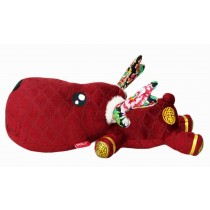 Car Decors Cool Deer Plush Dolls Bamboo Charcoal Auto Charms, Red