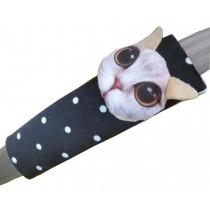 2 PCS Car Seat Belt Shoulder Pads Seat Belt Pads Dot White Cat