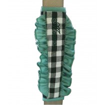 1 Pair Car Seat Belt Shoulder Pads Seat Belt Pads Plaid Green