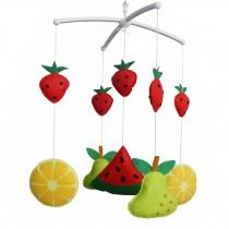 [Sweet Fruit] Handmade Toy Box Musical Baby Crib Mobile