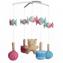 [Lollipop and Biscuit] Crib Musical Hanging Rotate Bell Ring Mobile Toy