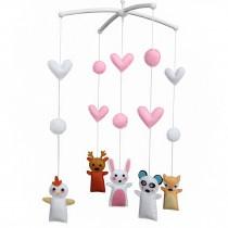 [Cute Animals] Handmade Rotate Musical Baby Crib Mobile