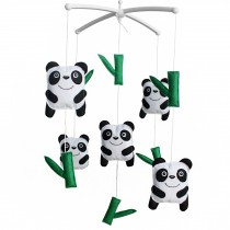 Baby Musical Toys Crib Dreams Mobile Crib Hanging Bell Panda