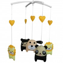 Cute Animals Hanging Bell Mobile Baby Bed Musical Crib Mobile