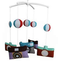 Hanging Bell Mobile [Cameras] Baby Bed Musical Crib Mobile