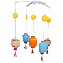 Creative Rotate Baby Mobile [Chinese Lantern] Bed Bell with Music