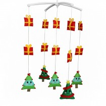 Handmade Cute Crib Hanging Rotating Bell Christmas Tree Musical Mobile